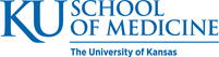 "KU School of Medicine logo, reads ""KU School of Medicine, The University of Kansas"""