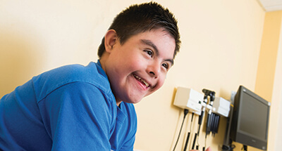 A teen visits the Children's Mercy Down Syndrome Clinic.