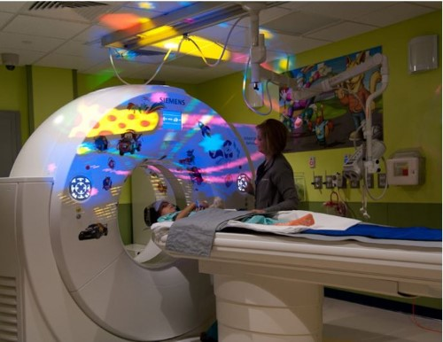 Patient receiving a CT Scan