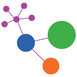 Colorful graphic of a molecule