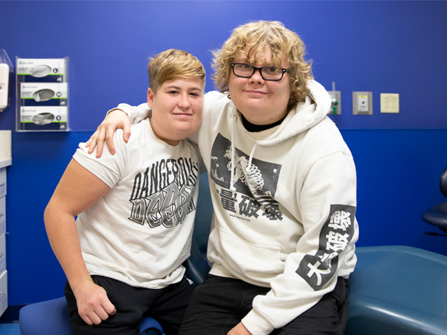 Genomic research patients, brothers Kaden and Ty