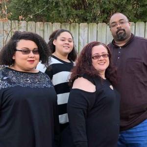 Caroline Magruder with family
