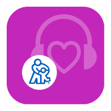 HearPlay Logo: Headphone icon with the shape of a heart in the middle