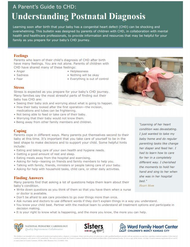 Congenital heart defects: A guide for parent's