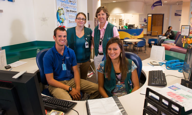Volunteer as a high school student at Children's Mercy.