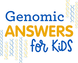 "Image reads, ""Genomic Answers for Kids"""