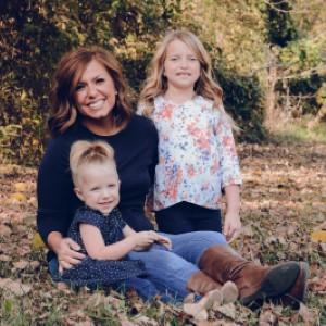 Angela Brown with children