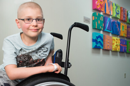 Children's Mercy patient Alex receives care in the Cancer Center.
