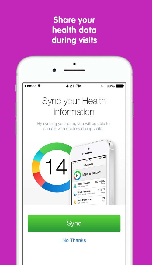 You can sync your health information to the KidCare Anywhere App at Children's Mercy.