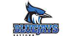"""Illustrated head of a blue jay (bird) with words that read """" BLUEJAYS RAYTOWN."""""""