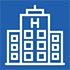 Icon of a hospital building