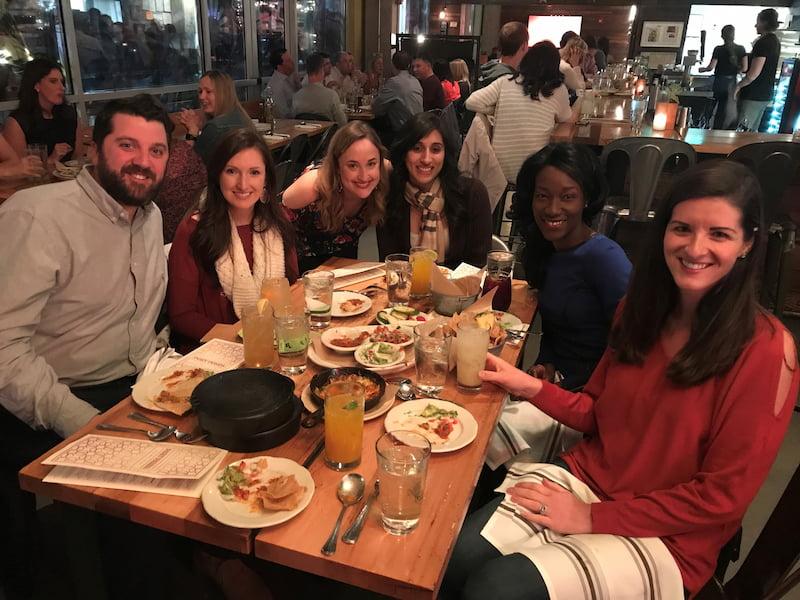 Children's Mercy Hematology/Oncology fellows attend a dinner retreat.