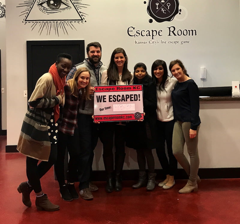 Children's Mercy Hematology/Oncology fellows at an escape room.