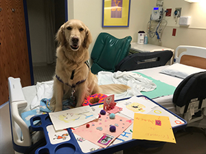Hope is all done demonstrating testing in the EMU at Children's Mercy.
