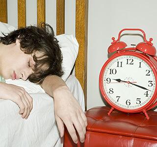 Sleeping Teenager for Activity Jet Lag in Children