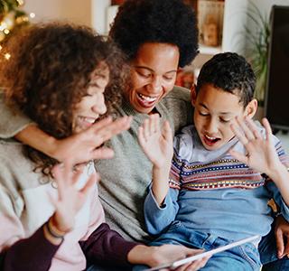 Family on FaceTime