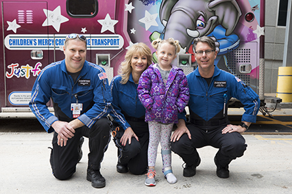 Meet Paizlee, a Critical Care Transport patient at Children's Mercy.