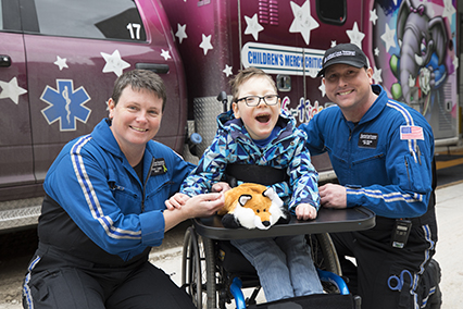 Meet Parker, a Critical Care Transport patient at Children's Mercy.