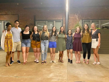 Children's Mercy Pediatric Residents pose together outdoors