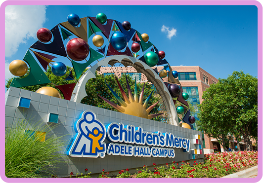 Children's Mercy Adele Hall Campus sign
