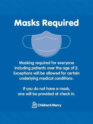 """Mask Required"" sign"